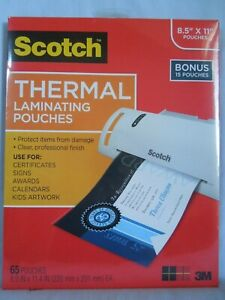 New Scotch Thermal Laminator Tl902 65 Laminating Pouches 8 9 X 11 4