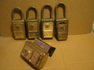 Lot Of 5 Vintage Title Supra Key Lock Box 4x Supra c And 1x Model J No K