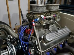Weiand Tunnel Ram Ford Small Block Dual Holley 450 Carbs Sbf 289 302 Works Good