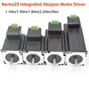 Integrated Stepper Motor Nema23 Driver 3nm 2 2nm 1 8nm 1 5nm 1 1nm 24 48vdc 2ph