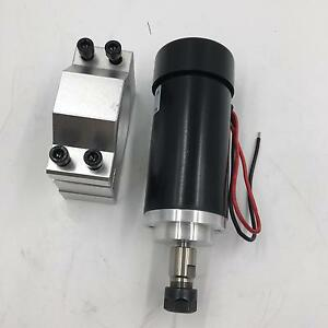 400w Dc Er11 Spindle Motor 12000rpm Air cooled Mount Bracket For Cnc Router