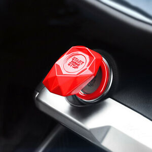 1x Auto Car Suv Decorative Red Accessories Button Start Switch Protection Cover