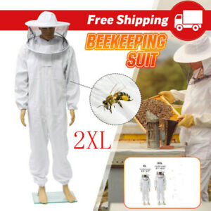 Beekeeping Jacket Veil Bee Keeping Suit Hat Pull Over Smock Protective Suit 2xl