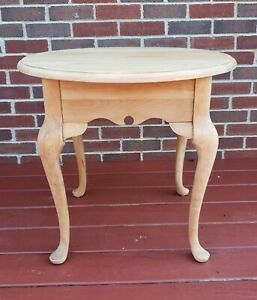 Vintage Queen Anne Style End Side Table Nightstand Customizable