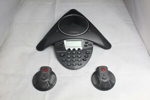 Refurbished Polycom Soundstation Ip 6000 Conference Phone W Mics 2201 15600 001
