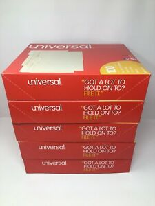 Universal Top Tab Letter Size File Folders 1 3 Cut One ply Manila Lot Of 500