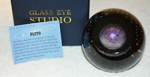 Pluto Planetary Paperweight by Glass Eye Studio Made in the USA 2213PWC