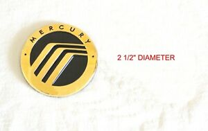 Any Mercury Mountaineer Grand Marquis Sable 24k Gold Plated Emblem Logo Set Of 2