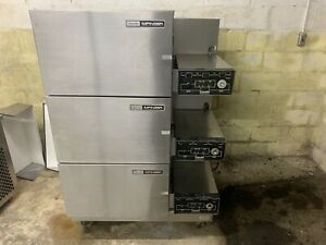 Lincoln Impinger 3 Stack Natural Gas Conveyor Pizza Ovens 1116