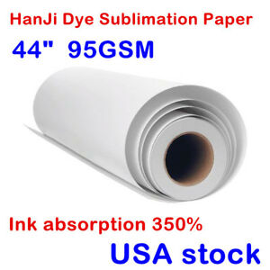 44in 86gsm Dye Sublimation Transfer Paper For Polyester Fabrics Mugs Plates