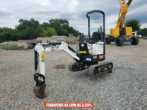 2019 Bobcat E10 Mini Excavator Orops 2 Speed 238 Hrs Aux Hydraulics 10 2 Hp