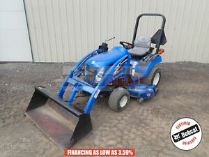 2005 New Holland Tz24da Compact Tractor With Loader Mower 4x4 766 Hours 24 Hp