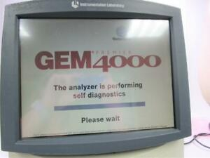 Instrumentation Laboratory Gem Premier 4000 Blood And Gas Analyzer
