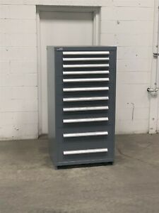 Used Stanley Vidmar 11 Drawer Cabinet Industrial Tool Storage Box 223