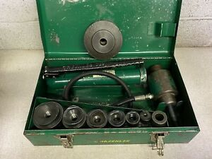Greenlee Hydraulic Knockout Punch Driver Set 1 2 To 2 Plus 4 Knock Out Punch