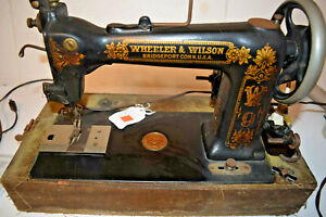 Antique Wheeler Wilson Sewing Machine W9 Pre 1930 Working With Foot Pedal