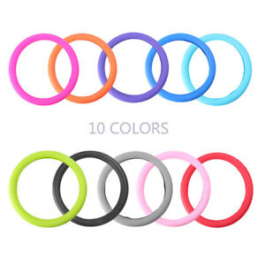 Car Steering Wheel Glove Cover Silicone Universal Fit 13 15 Steering Wheel Hs