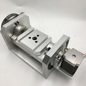 Dividing Head 5th A Axis Ratio 6 1 8 1 Stepper Motor Rotary Rational Axis Cnc