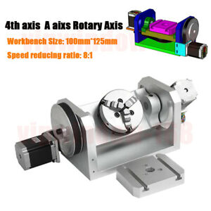 Cnc Dividing Head Router Rotary Axis 4th A Axis 3 Jaw 100mm Chuck Self centering