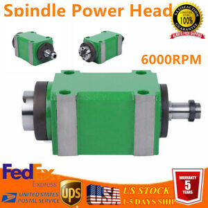 6000rpm Spindle Unit 1 5kw Cnc Mechanical Spindle Drilling Milling Power Head