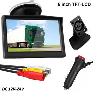 5 Tft lcd Car Rear View Rearview Monitor With Stand Reverse For Backup Camera