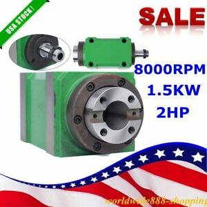 8000rpm Bt30 Spindle Power Head 2hp Mechanical Spindle Unit Bearing Milling Us