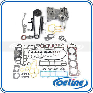 Fit 85 95 Toyota Pickup 2 4l 22r 22re Head Gasket Set Timing Chain Cover Kit