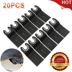 20pc Saw Blade Oscillating Multi Tool For Fein Bosch Milwaukee Porter Cable Best
