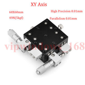 Xy Axis Manual Trimming Platform Linear Stage Tuning Sliding Table 40 50 60 90mm