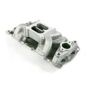 Tsp 82026 Small Block Chevy Carbureted Air Gap Intake Manifold Satin
