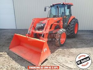 2015 Kubota M7060 Loader Tractor Cab Heat ac 4x4 3 Point 540 Pto 773 Hours 71 Hp