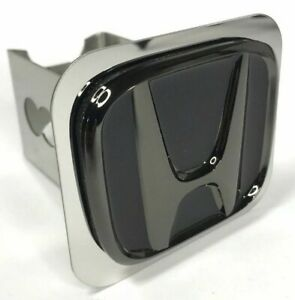 Honda Trailer Hitch Cover 1 1 4 Hitches Stainless Steel Black Subdued Chrome
