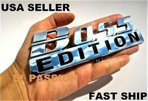 Boss Edition Chrome Fit All Cars Truck Logo Custom Emblem Quality Funny Bumper