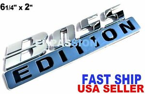 The Boss Edition Chrome Fit All Cars Truck Logo Custom Emblem Molding Side Decal