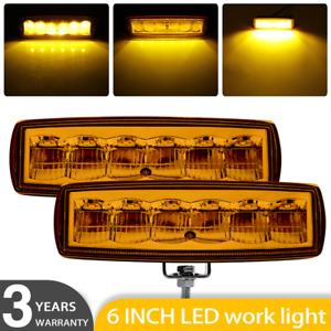 2x Led Work Lights 6 Inch 60w 12v Driving Strip Combo Beam Light Bar Suv Offroad
