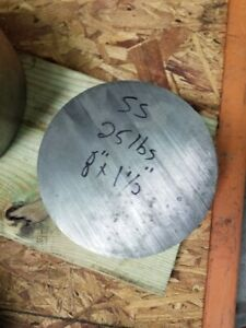 8 Diameter 304 Stainless Steel Round Bar Rod 8 5 X 1 5 Length Millable