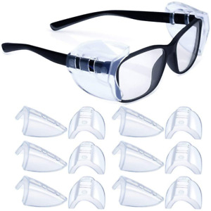 6 Pairs Safety Glasses Side Shields slip On Clear Side Shields fits 6 Pairs m