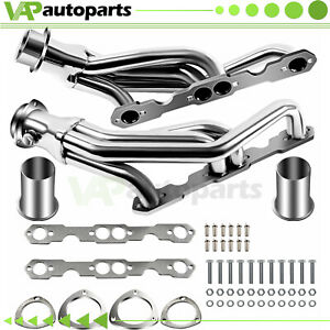 Exhaust Header For 88 97 Chevy Gmc Truck Small Block 307 327 305 350 Pick Up