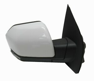 Right Side Mirror White Oxford Blind Spot Turn Signal Puddle 2016 18 Ford F 150