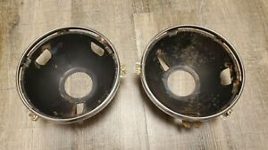 1967 1972 Ford Truck Headlight Buckets Trim Rings 1968 1969 1970 1971