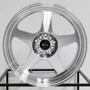 4 new 18 Vors Sp1 Wheels 18x8 18x9 5x100 5x114 3 35 35 Silver Machined Staggere