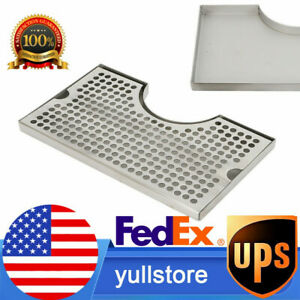 Hight quality No Drain Stainless Steel Tap Draft Beer Tower Drip Tray 12