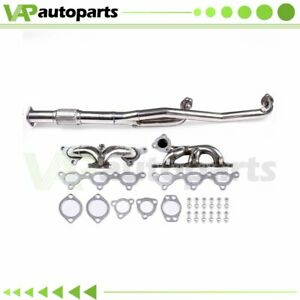 For Mit 3000gt Vr 4 Gto Stealth Racing Turbo Manifold Header downpipe Exhaust V6