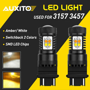 Auxito 3157 Switchback Led Turn Signal Parking Drl Daytime Running Light Bulb 2x