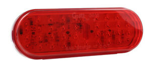 Grote G6002 Red Hi Count Oval Led Stop Tail Turn Lights