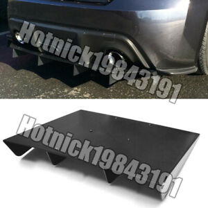 22 X 19 Abs Universal Rear Bumper 4 Fins Diffuser Fin Black Canards For Bmw
