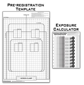 Pre registration Template Transparency Exposure Calculator Screen Printing