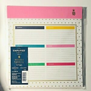 Emily Ley Simplified Pink Weekly Planning Desk Pad At a glance 9 75x10 75