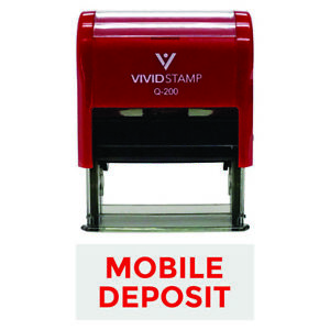 Mobile Deposit Self inking Office Rubber Stamp