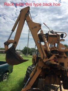Case Trencher Back Hoe Swing Rack For D100 Or D125 Backhoe